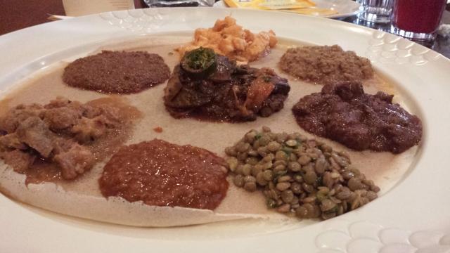 Meats on Injera