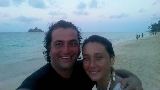 Lanikai Beach'de Günbatım