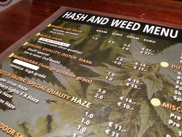 Coffeeshop Menu